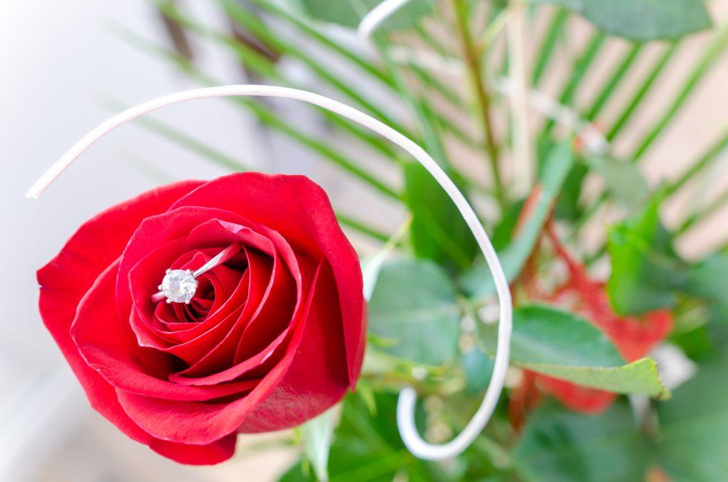 Роза с диамант