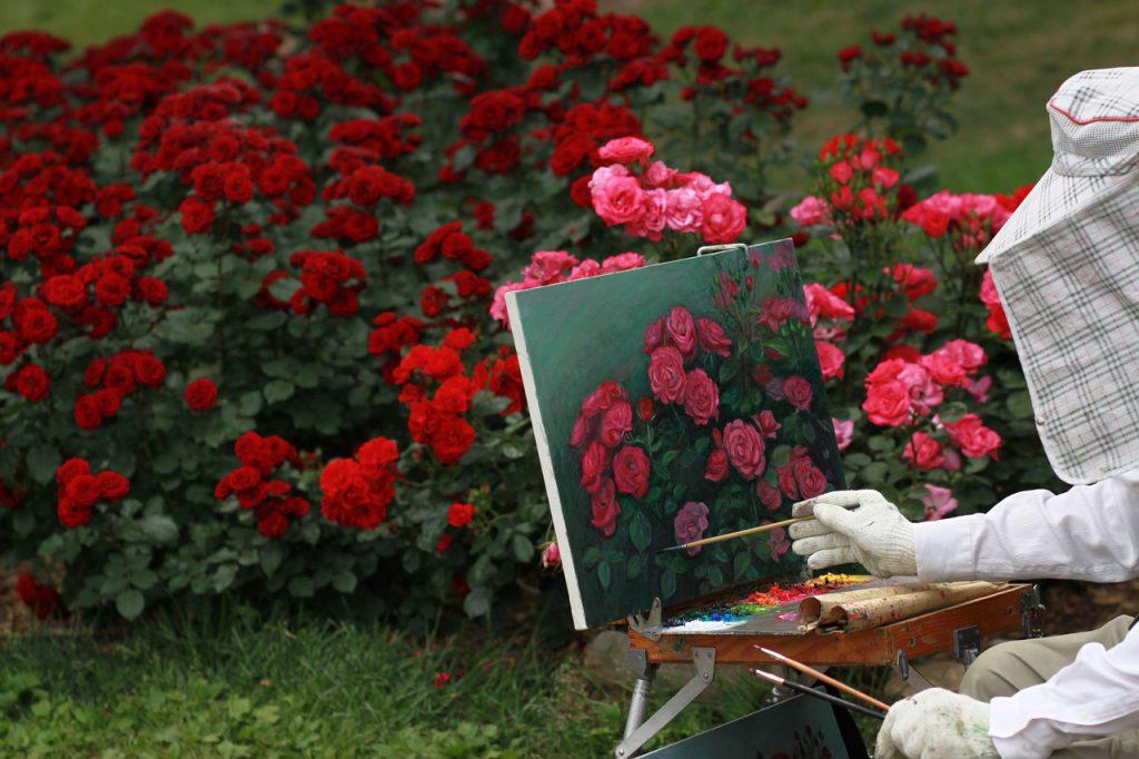 Картина с червени рози