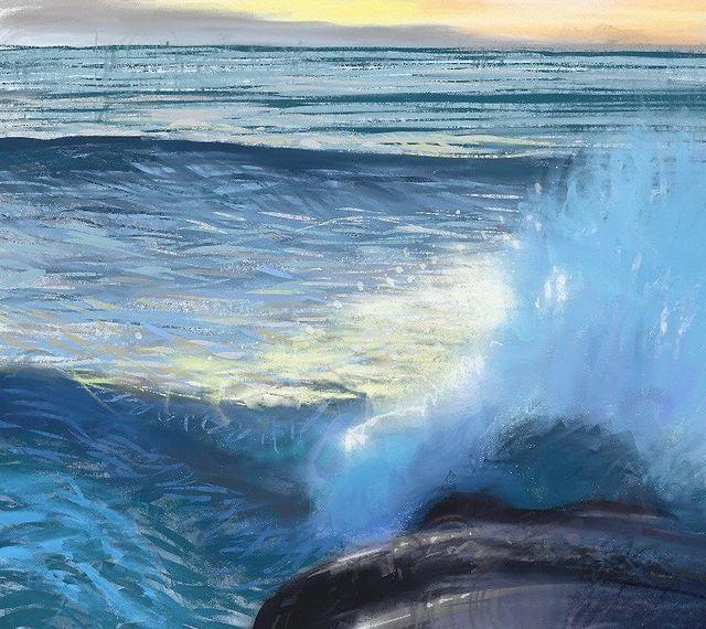 Разбиващи се вълни в морето