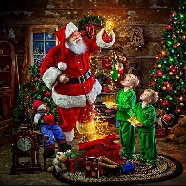 Дядо Коледа с деца